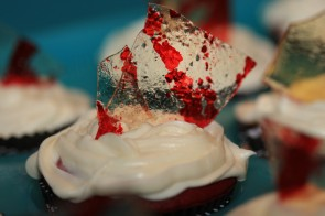 Broken Glass and Chocolate Pumpkin Cupcakes
