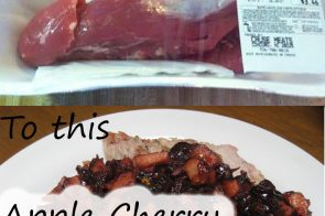 Instant Pot Apple Cherry Pork Loin